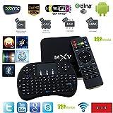 [New!!!] Monba MXV Android TV BOX Kodi fully loaded XBMC Amlogic S805 Quad Core 1GB/8GB Wifi LAN 4k tv player Streaming Media Player with Wireless keyboard