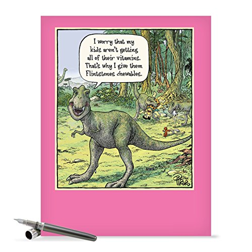 J0203 Jumbo Funny Mother's Day Card: Flintstones Chewables With Envelope (Extra Large Version: 8.5'' x 11'')