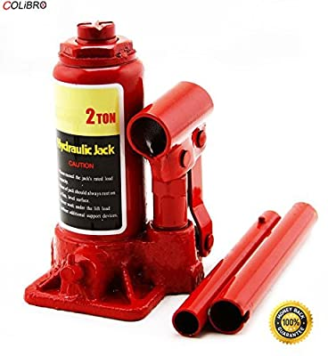 COLIBROX--New 2 Ton Hydraulic Bottle Jack 4000lb Lift HEAVY DUTY Automotive Car Compact Low pick up height and maximum life heigh. Wide, rugged base.