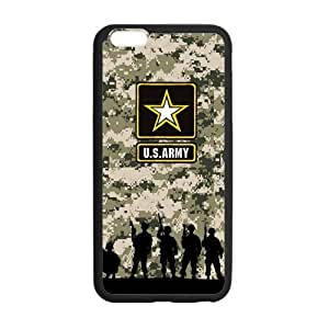 United States Army USA Logo Soldiers And Green Camo Background Cases Cover iPhone 6 Plus 5.5