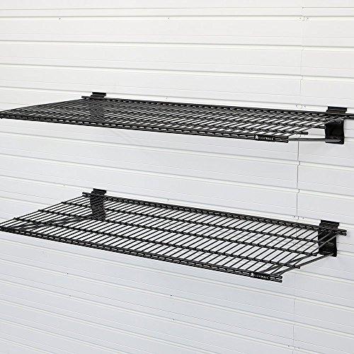 Flow Wall FSS-MB2412-2B  Metal Bracket Shelf, Black, 2-Pack
