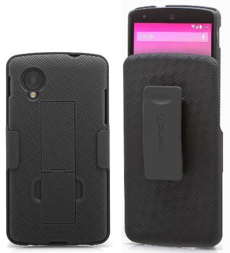 Aduro Shell Holster Combo Case for Google LG Nexus 5 with Kick-Stand & Belt Clip (AT&T, Verizon, T-Mobile, US Cellular & Sprint) (Cellular Case)