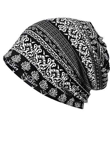 (Luccy K Women's Lightweight Turban Slouchy Beanie Hat Cap, Multicolor 27, One Size)