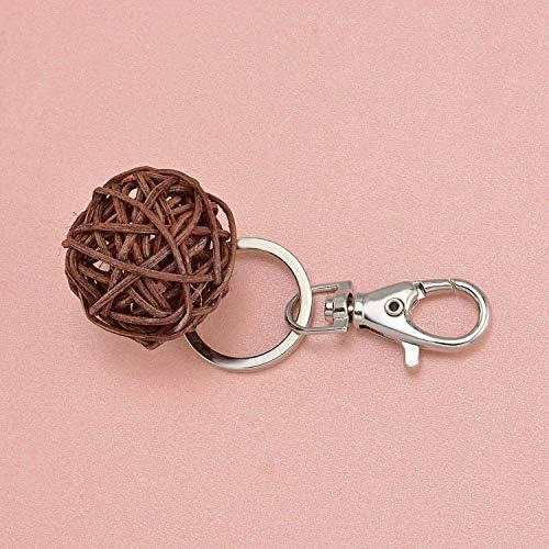 Couleur Laiton TRIXES 20 Petits Crochets d/étachables en Forme de Petit Homard pour Anneau Ouvert