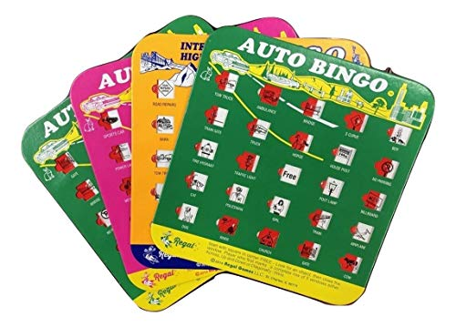 Regal Games Original Travel Bingo 4 Packs Great for Family Vacations Car Rides and Road Trips ...