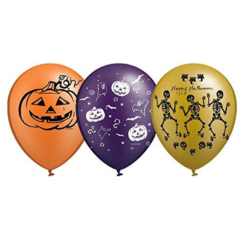 [Halloween Balloons, halloween balloon decorations, halloween decorations, 12 inch 20 pcs in 3 colors and prints Gold Type] (Sexy Halloween Decorations)