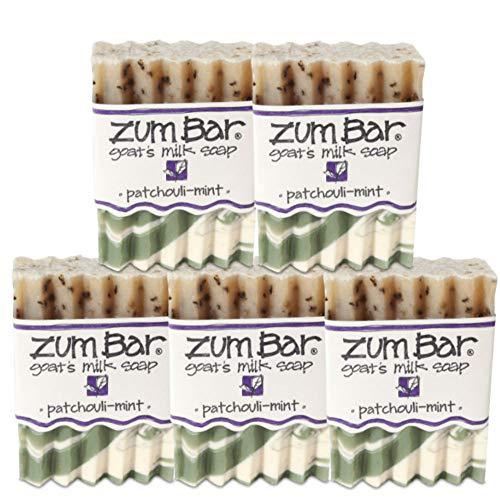 Indigo Wild Zum Bar Goat's Milk Soap, Patchouli Mint - 5 Pack