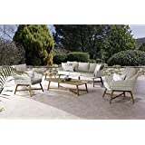 Amazon.de: OUTLIV. Loungemöbel Outdoor Timor Sofagruppe 4tlg Stahl ...