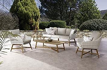 Loungemöbel Garten Elegant Ecksofa Polyrattan - Pure Garden & Living