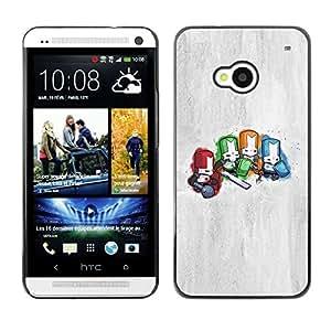SKCASE Center / Funda Carcasa - Caballeros Diminuto;;;;;;;; - HTC One M7