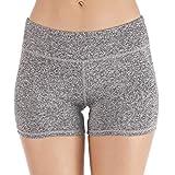 Yoga Shorts Leggings High Waist Slim Solid Gym Short Tops Sport Fitness Jogging Sexy Pants Gray
