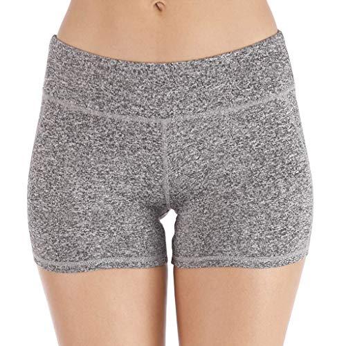 shijiazhuangxingxinjiaju Beach Pants for Women,Sexy Yoga Leggings High Waist Slim Solid Gym Short Leggings Sport Fitness Pants,Gray,S
