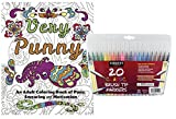Very Punny: An Adult Coloring Book of Funny Puns, Swearing & Motivation, and ...
