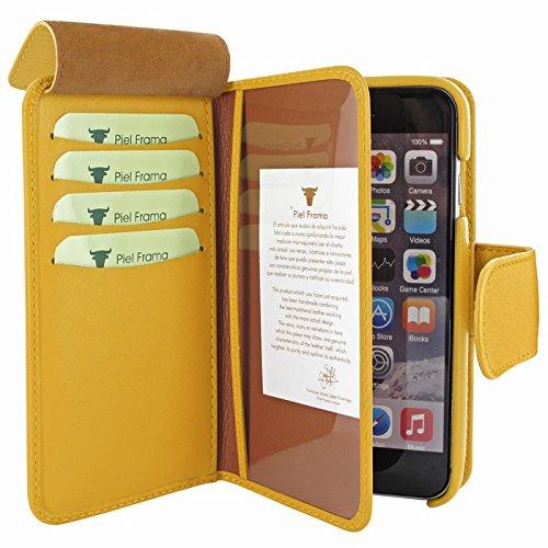 Piel Frama U716Y WalletMagnum Coque pour iPhone 6 Jaune