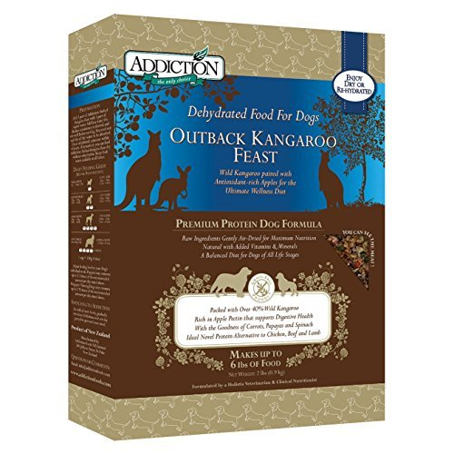 Addiction Raw Dehydrated Grain-Free Dog Food, Outback Kangaroo Feast, 2lbs by Addiction Pet Foods