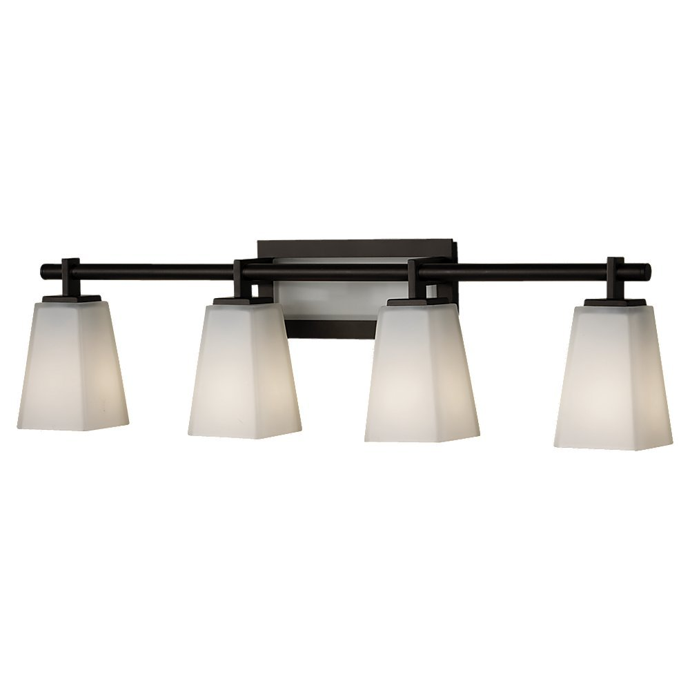 Beautiful Feiss VS16604 ORB 4 Bulb Vanity Light Fixture, Oil Rubbed Bronze Finish      Amazon.com
