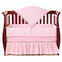 American Baby Company Heavenly Soft Minky Dot 4-Piece Crib Bedding Set, Pink