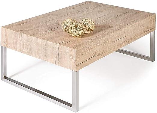 Mobili Fiver, Tavolino da Salotto, Evo XL, Rovere Moro, 90 x