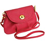 Sunny GH9256 Crossbody Bag for Women - Leather, Red