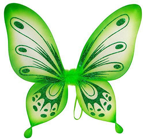 Green Fairy Costume (Green Sparkling Fairy Princess Wings)