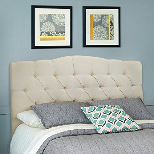 Barton Full/Queen Cotton Headboard (Beige) by Barton