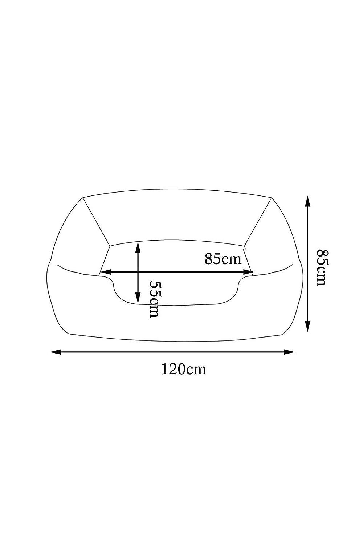 Letto di alta qualit/à per Cani Nero Divano lavabile Ecopelle effetto trapuntata 100 x 75 cm dimensioni esterne L dibea DB00182