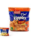 Amouge Crispy Potato Ripples Hot Sauce flavour ( 24 Pack )