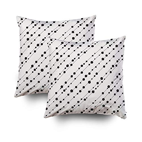 otton Square Set of 2 Pillow Case Covers with Zippered Closing for Home Sofa Decor Size 18X18Inch Costom Pillowcse Throw Cover Cushion,Pattern Modern Floral Texture Repeating ()