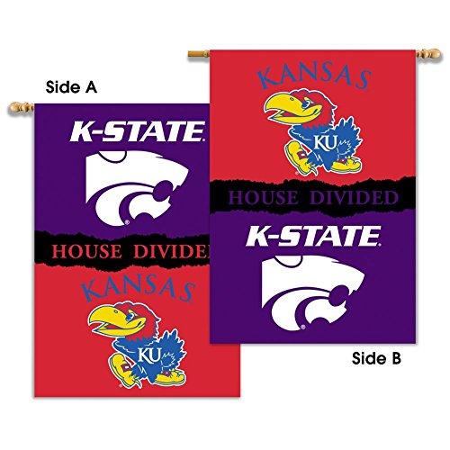 (BSI Kansas Jayhawks KU House Divided Rivalry Flag)