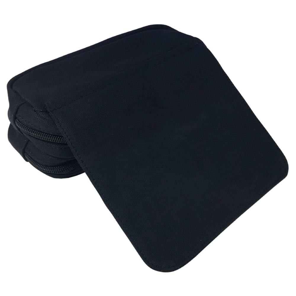 Color : Black01, Size : 20 X 10 X 7.5cm SCP Foundation Astuccio per Matite Borsa a tracolla doppia cerniera stampata