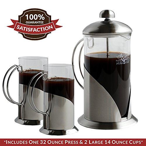 French Press Coffee Maker Pura