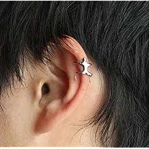 Silver Color Climbing Man Style Punk Goth Steampunk Ear Cuff Clip on Earring Cartilage