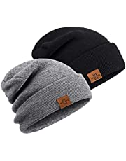 Winter Beanie Hats for Men and Women,Stretchy Daily Knit Hat,Gifts for Dad Mom