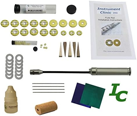 Instrument Clinic Flute Pad Kit Email Your Flute Model IC300 Made in USA! with Instructions