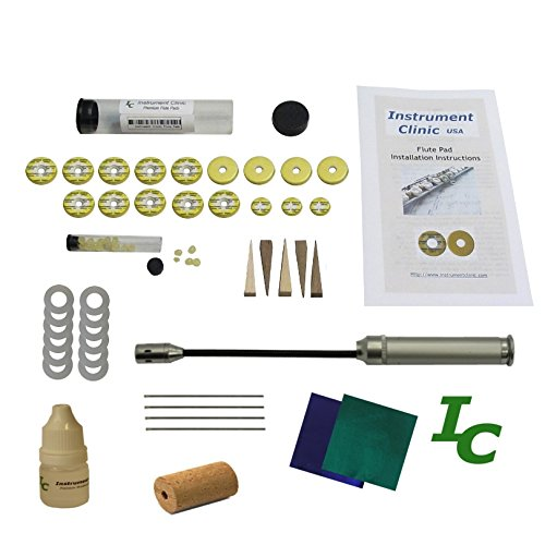 Instrument Clinic Flute Pad Kit, IC300, with Instructions, Made in USA!, Email Your Flute Model