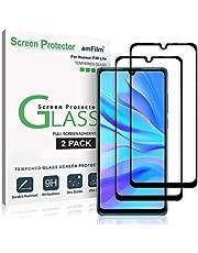 amFilm Protector Pantalla para Huawei P30 Lite (2 Pack), Cobertura Total (Anti-Burbujas) Cristal Vidrio Templado Protector de Pantalla para Huawei P30 Lite (Negro)