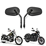 Black Matte Motorcycle Side Mirrors for Cruiser Touring Harley Davidson XL 883 1200