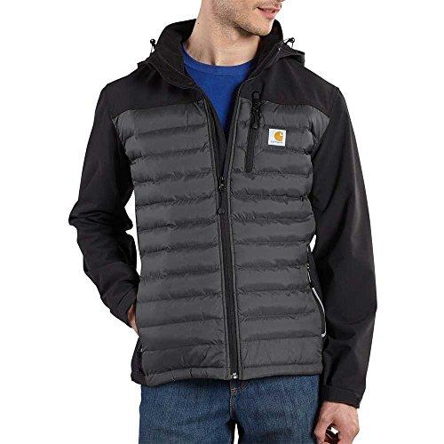 Soft Jacket Carhartt (Carhartt Men's 101743 Denwood Hybrid Jacket - Medium Regular - Black/Charcoal)
