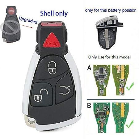 Amazon.com: Beefunny - Carcasa para llave de coche con 3 ...