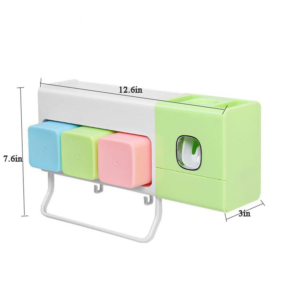 Kitrack Dispensador Automático Pasta Dientes Secado por Infrarrojos Cepillo De Dientes,Pink: Amazon.es: Deportes y aire libre