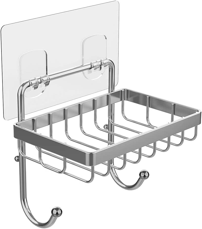 Wall Mount Soap Dish Bathroom Kitchen Suction Up Soap Box Hanging Soap Case C