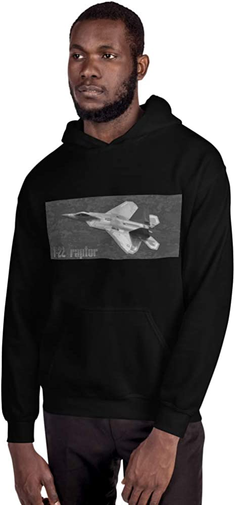 JG Infinite F-22 Raptor USAF Military Fighter Jet Aircraft Unisex Hoodie