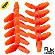 RJX 5 Pairs 40mm Propeller CW CCW 3-blade Props for FPV Racing Drones 5 Pairs Red / Pink/ Yellow / White by RJXHOBBY