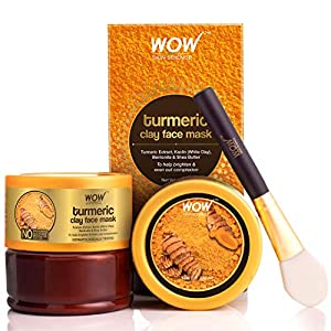 WOW Skin No Parabens, Sulphate, Mineral Oil & Color, Science Turmeric Clay Face Mask For Helping To Brighten & Even Out…
