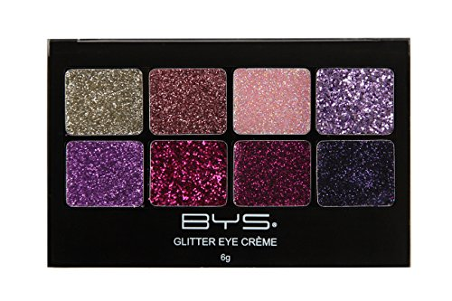 BYS Glitter Gel Makeup Palette 8 shades - Fairy Dust, Suitable for all area of the