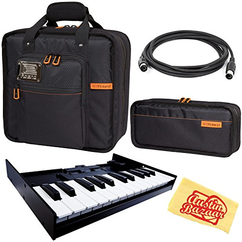 Roland K-25M Keyboard Bundle with Roland CB-BRB3 Carrying Bag, CB-BRB1 Carrying Pouch, MIDI Cable, and Austin Bazaar Polishing Cloth