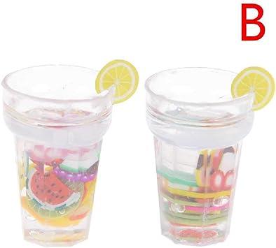 1:12 Puppenhaus Miniatur 2 Gläser Zitronenlimonade