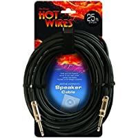 Hot Wires 1/4 Inch to 1/4 Inch Speaker Cable - 25 Foot