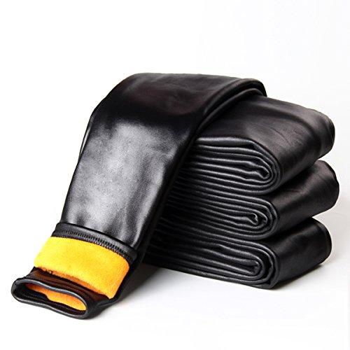 Tengo Girls Winter Warm Fleece Lined Faux Leather Leggings Children Pants