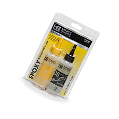 Clear Slow-Cure Epoxy (4.5 oz. Combined) (Update Version): Kitchen & Dining